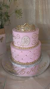 Pink And Gold Sweet Sixteen Cake Missys Sweet Sixteen Pink And