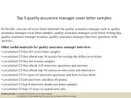 Cover Letter For Quality Manager Job Eursto Com