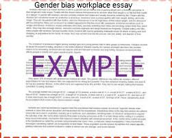 gender bias workplace essay custom paper writing service gender bias workplace essay this case study explores gender discrimination in the united states each
