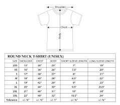 Round Neck T Shirt Size Chart Step By Step Polo Shirt Measurement Process With Size Chart