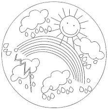 Mandala Da Colorare Per Bambini Sole Arcobaleno E Nuvole Scuola