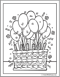 Birthday Party Coloring Pages Free Printable 0 Noscaorg