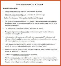 mla outline mla outline example outline examples in mla outline format moa format