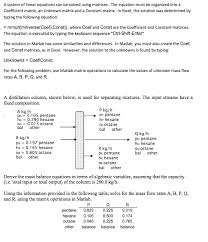 a system of linear equations can be solved using matrices the equation must be organized