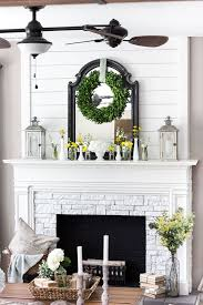 summer home tour 2016 faux fireplace wood planks and plank