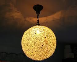 The Plumed Nest: Make: String Pendant Light in Diy Yarn Lights (Image 14