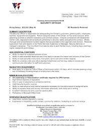Security Job Duties For Resume Best solutions Of Security Job Resume Description Wonderful Security 1