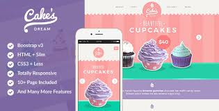 Cupcake Website Design Template Cupcakes Templates From Themeforest