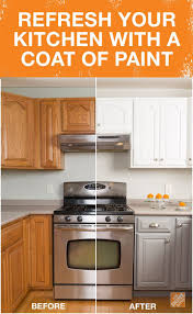 Painted Kitchen Cabinets to Refresh Your Old Kitchen