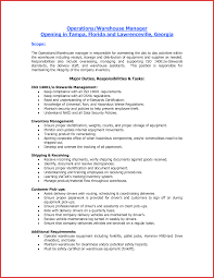 Assistant Manager Job Description For Resume Awesome assistant Warehouse Manager Job Description excuse letter 64