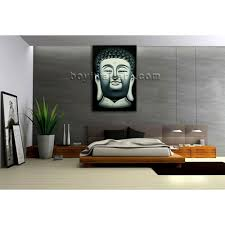 Buddha Head Decor Large Feng Shui Painting Abstract Buddha Head Stately Home Decor