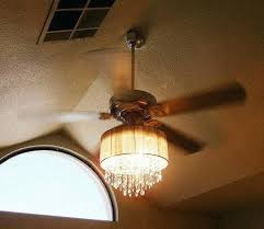diy ceiling fan chandelier this lady combined a ceiling fan and crystal chandelier diy ceiling fan