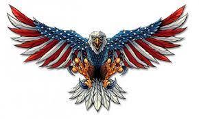flag wings patriotic metal wall