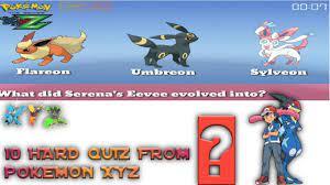 Pokemon XYZ quiz   pokemon quiz from kalos region