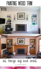 painted wood trim fireplace before and after