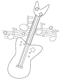electric guitar coloring pages printable page stock ilration of useful as book kids