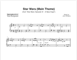 Unlimited access to over 1.1. Star Wars Beginner Piano Sheet Music Digital Print Bluebird Music Lessons