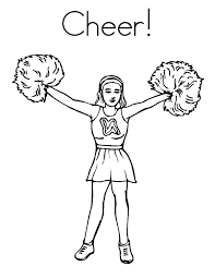 Cheerleading Drawing At Getdrawingscom Free For Personal Use