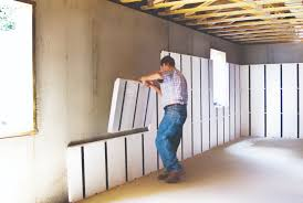 frame and insulating a basement wall
