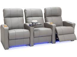Coaster Theater Seating Chart Seatcraft Napa Spacesaver Top Grain Leather 7000 Powered Headrest Power Recline Black Brown Or Gray