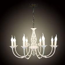 Us 1890 Europa Stil Schmiedeeisen Anhänger Kronleuchter Beleuchtung Restaurant L Dekoratives Licht Fixure E14 8 Stücke Kerze Licht Leuchter In