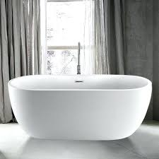 foster acrylic freestanding tub with integral drain install