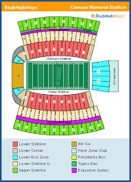 Football Stadium Clemson Football Stadium Seating Chart
