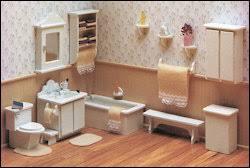 The Master Bathroom Miniature Dollhouse Furniture Kit by Corona