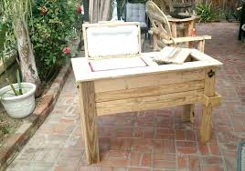 wooden patio cooler wood patio cooler stand pallet ice chest build a cooler full tutorial co wooden patio cooler