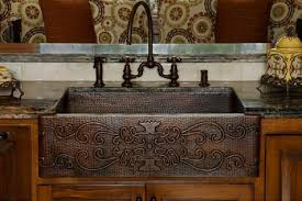 concrete farmhouse sink. Copper Hammered Apron Sink With Scroll Design From Premier Products Concrete Farmhouse E
