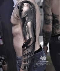 Gladiator Sleeve Tattoo Best Tattoo Ideas Gallery