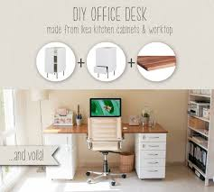 desk components for home office. Gorgeous DIY Home Office Desk Ideas Diy Made From Ikea Kitchen Components Hackers For I