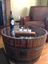 wooden half barrels reversible reclaimed wine barrel table with tempered glass top for uk wooden half barrels