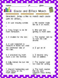 ideas about cause and effect on pinterest   anchor charts    teach junkie   easy cause and effect activities and worksheets   cause and effect matching