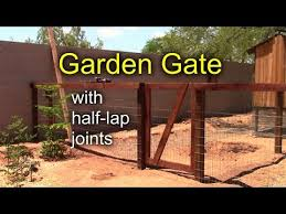 diy garden gate with half lap joints