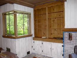 Painting Knotty Pine Cabinets Interior Endearing White Paint Knotty Pine Wall Paneling Along