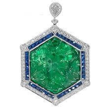 gorgeous 16 92 carat platinum emerald