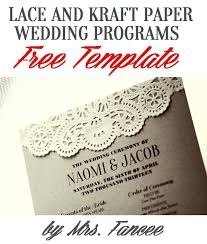 wedding reception program templates free download wedding program template wedding program fan template free download
