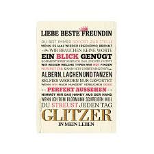 Wandtafel Holzschild Liebe Beste Freundin Geschenk Geburtstag