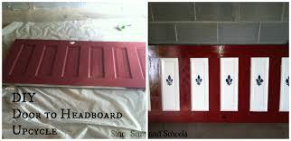 Do It Yourself Headboard Stacy Sews And Schools Diy Door To Headboard Upcycle