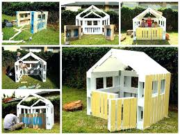 easy to build playhouse plans free indoor kits how a out of pallets childrens uk bui