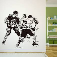 DCTOP A Group Ice Hockey Player In The Game Wall Sticker Transfers Home  Decor Vinyl Removable Sport Wall Mural Accessories -in Wall Stickers from  Home ...