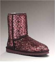 Women UGG Classic Short Sparkles 1002978 Dakota Sangria Multi Moschino Boots