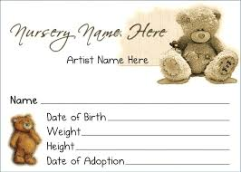 Baby Certificate Maker Fascinating Teddy Bear Birth Certificate Template Theworldtomeco