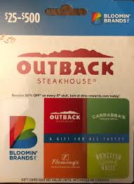 outback steakhouse gift card bloomin brands 1 of 2
