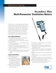 Duct Traverse Chart Multi Parameter Ventilation Meters Manualzz Com