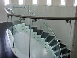 glass staircase railing glass stair railing design ideas