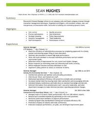 general cv template general manager cv sample responsible for daily operations and