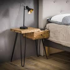 Vintage Nachtkastjenachtkastje Bodil Linksmassief Acaciahout1 Lade