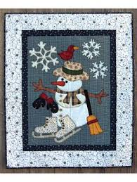 8 Snowman Quilt Patterns | Snowman, Window and Patterns & New Quilt Patterns - Cold Weather Friends Wall Hanging Pattern Adamdwight.com